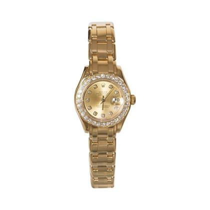 Rolex Datejust Pearlmaster 18 carat yellow gold and diamond 80298 ladies vintage watch