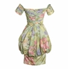 Yves Saint Laurent 1980s Off The Shoulder Vintage Multicoloured Dress