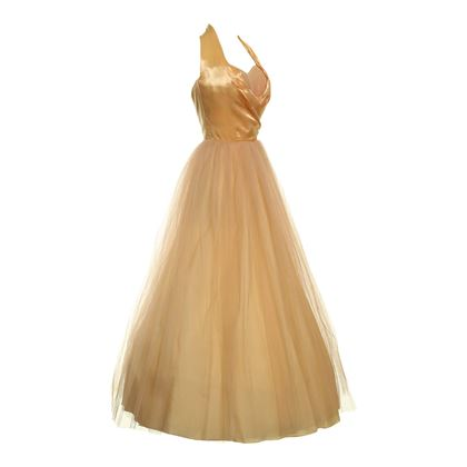 Fred Perlberg 1950s Golden Yellow Vintage Dress