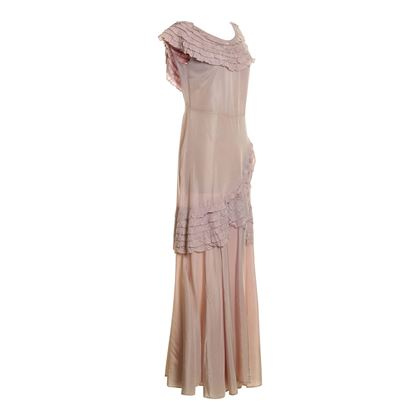 Vintage 1930's satin full length lilac dress