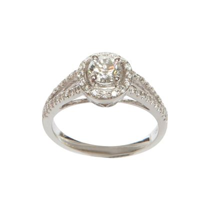 Vinatge Brilliant Cut Solitaire Diamond Ring
