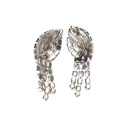 Kramer 1950s Clip On Metallic Vintage Earrings
