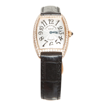 Franck Muller Curvex rose gold quartz women's vintage watch
