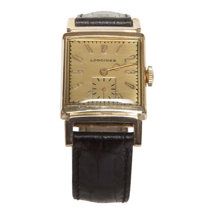 Longines 1940s manual wind 9 carat gold men's vintage watch