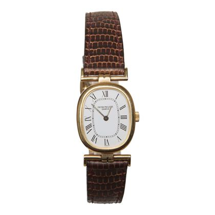 Patek Philippe Ellipse yellow gold manual wind ladies vintage watch