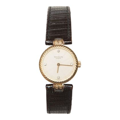 Patek Philippe 1980s yellow gold quartz ladies vintage watch