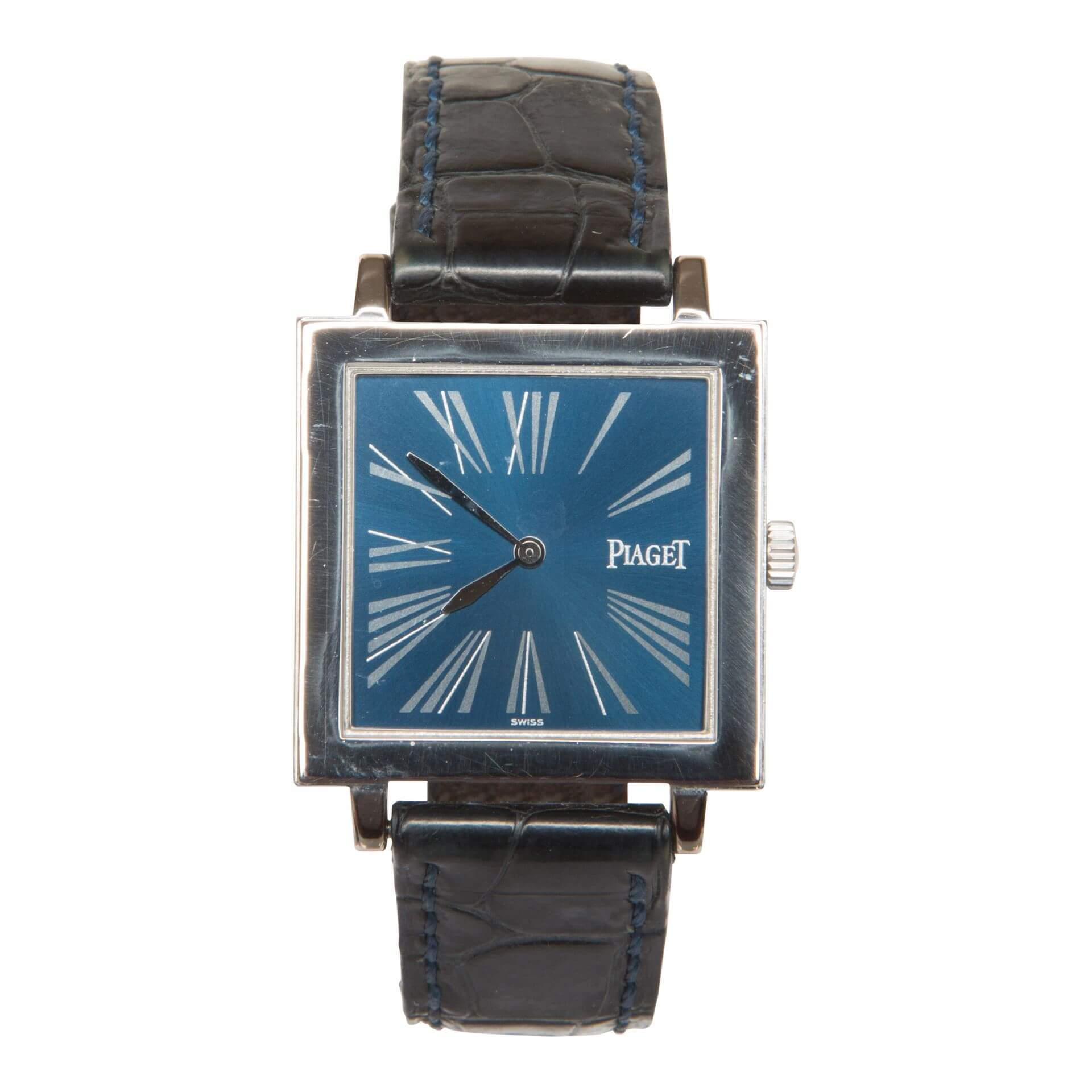 piaget antiplano blue dial 18 carat white gold 90930 mens vintage piaget antiplano blue dial 18 carat white gold 90930 mens vintage watch