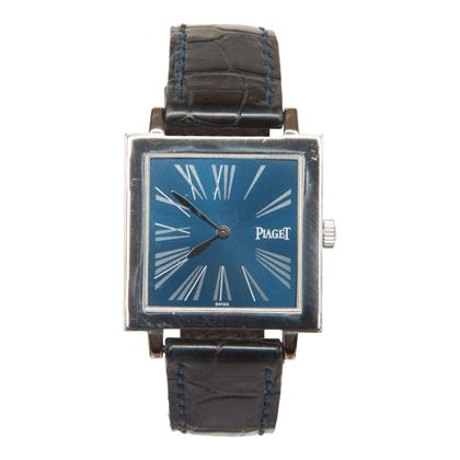 Piaget Antiplano blue dial 18 carat white gold 90930 mens vintage watch