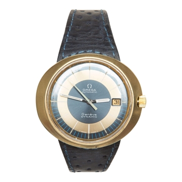 Omega Dynamic 1970's gold plated men's vintage watch