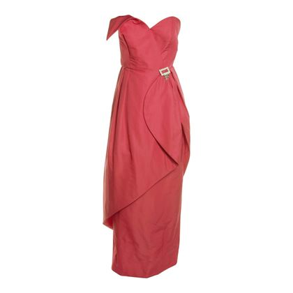 Dorothy Farbo 1960s Evening Pink Vintage Dress