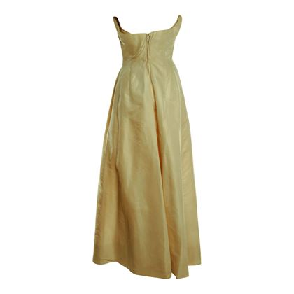 Helena Barbieri 1950s Strapless Cream Vintage Dress
