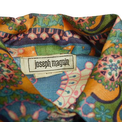 Joseph Magnin 1970s Pattern Loungewear Multicoloured Vintage Dress