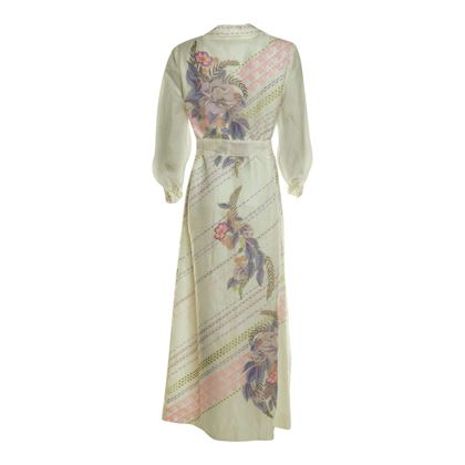 Alfred Shaheen 1970s Hawaiian White Vintage Dress