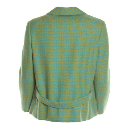 Aquascutum 1960s Houndstooth Green & Blue Vintage Jacket