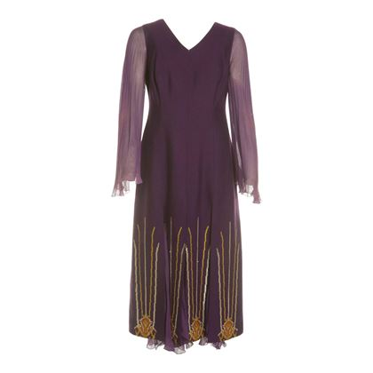 Nikos and Takis 1970s Greek Style Purple Vintage Dress