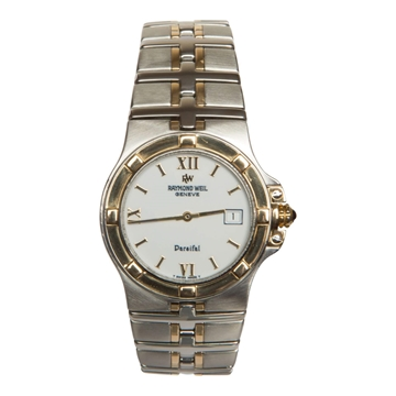 Raymond Weil Parsifal 9190 stainless steel and yellow gold mens vintage watch
