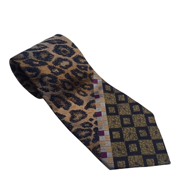 Jean Paul Gaultier 1990s Leopard Print Multicoloured Tie