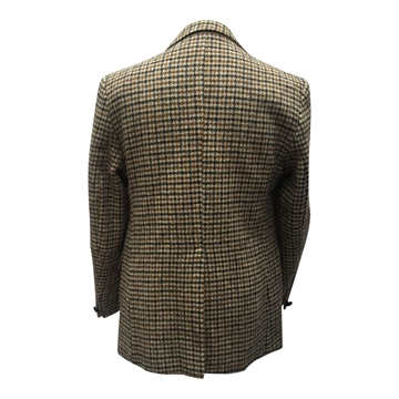 Harris Tweed 1960s Hand Woven Brown Vintage Jacket