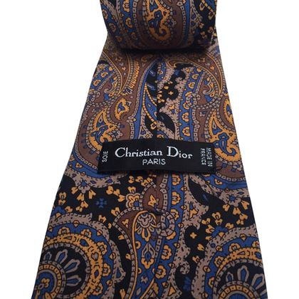 Christian Dior Paisley Pattern Silk Multicoloured Vintage Tie
