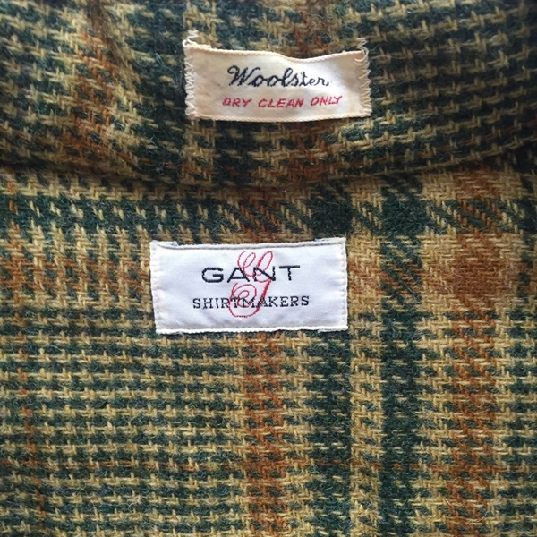 Gant Woolster Wool Check Green Vintage Shirt