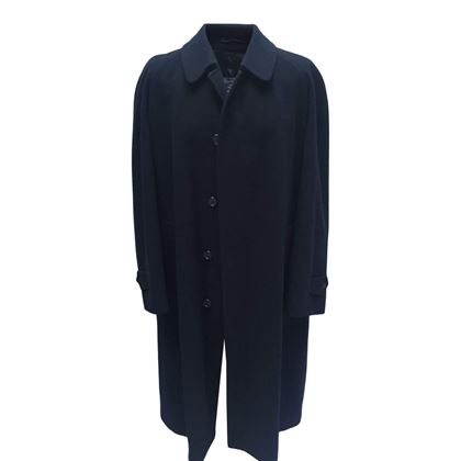 Burberry 1980s Wool Navy Vintage Coat
