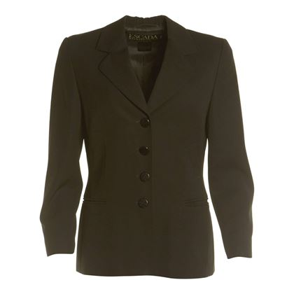 Escada 1980s Wool Black Vintage Blazer