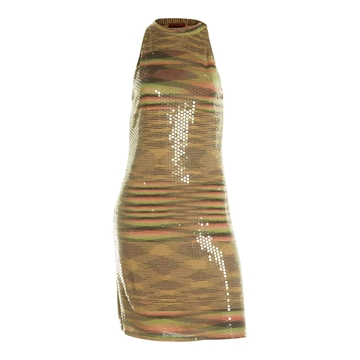 Missoni 1980's knit and clear sequin dress