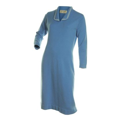 Azure 1960s Cashmere Wool Blue Vintage Dress