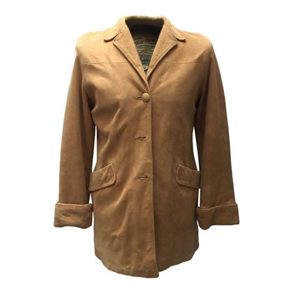 Mid Western 1960s Deerskin Leather Brown Vintage Jacket