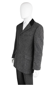 Gianni Versace 1980's Men's Wool grey vintage Suit