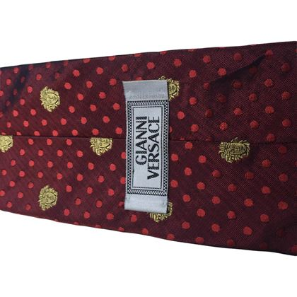 Versace Patterned Red Vintage Tie