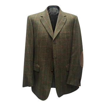 Burberry Houndstooth Brown Vintage Blazer