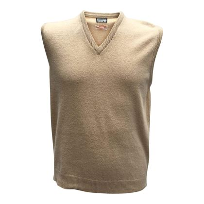 Brooks Brothers 1960s Sleeveless Pullover Beige Vintage Jumper