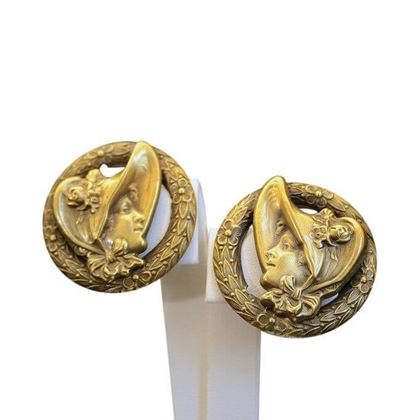 Joseff of Hollywood 1940s Victorian Lady vintage earrings