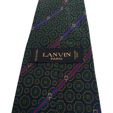 Lanvin Silk Stripe Patterned Multicoloured Vintage Tie