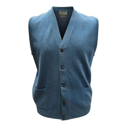 Marshall Field & Company Cashmere Blue Vintage Cardigan