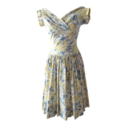 Jonathan Logan 1950's floral cotton vintage day dress