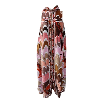 Emilio Pucci 1970s devore zip up vintage beach gown