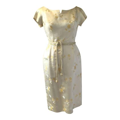 Vintage 1950's two piece satin wedding outfit