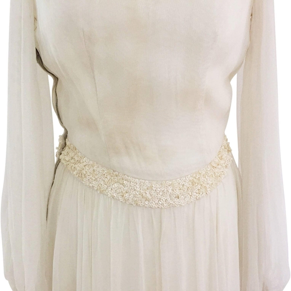 Vintage Wedding Dresses Under 1000: 1930's, San Francisco, Embellished Chiffon Vintage Wedd