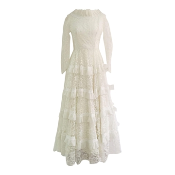 Vintage 1960's Irish lace wedding dress