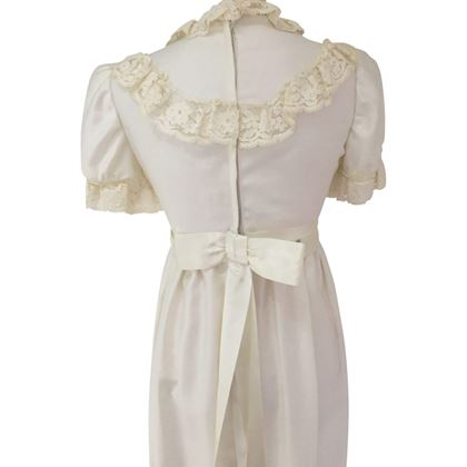 vintage 1960's High Waisted Wedding Dress