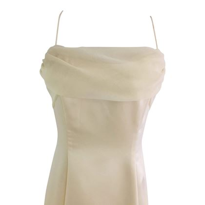 Vintage 1960's satin A line wedding dress