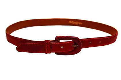 Yves Saint Laurent 1980s Lizard Skin red vintage belt