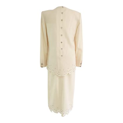 Nolan Miller Cream vintage Wedding Suit