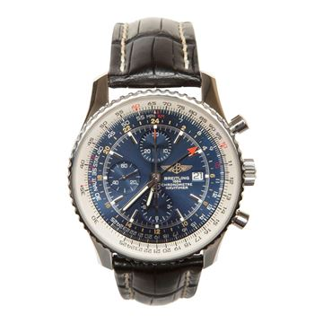 Breitling classic Navitimer world automatic blue dial A24322 men's vintage watch