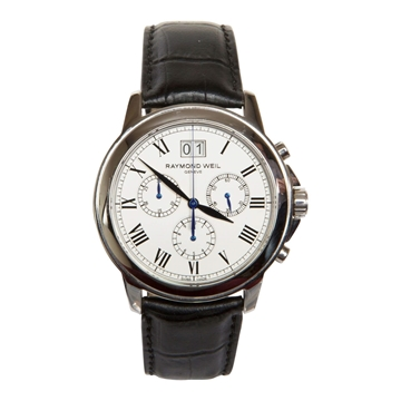 Raymond Weil Tradition 4476 stainless steel chronograph mens vintage watch