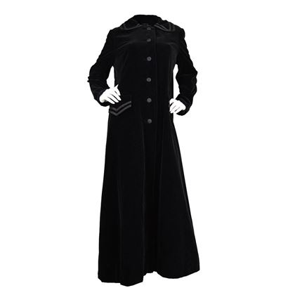 Louis Féraud 1960's Velvet Full Length black vintage Opera Coat