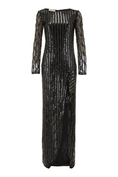 Andre Laug 1970s Sequinned black Vintage Dress