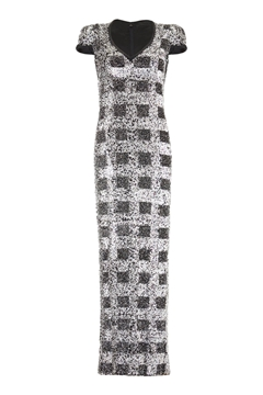 Andre Laug 1970s sequinned monochrome vintage Dress
